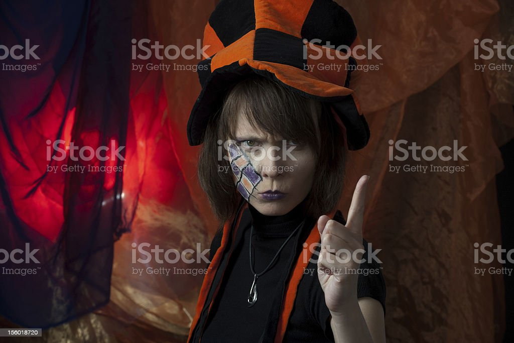 angry mad hatter royalty-free stock photo