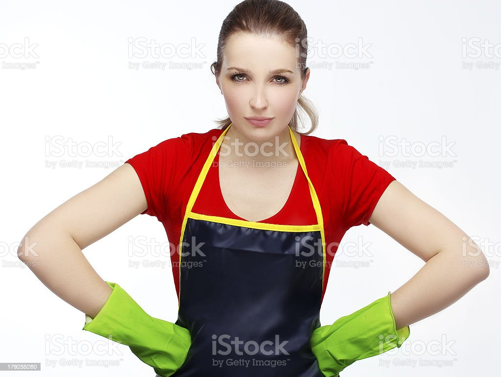 Angry maid royalty-free stock photo