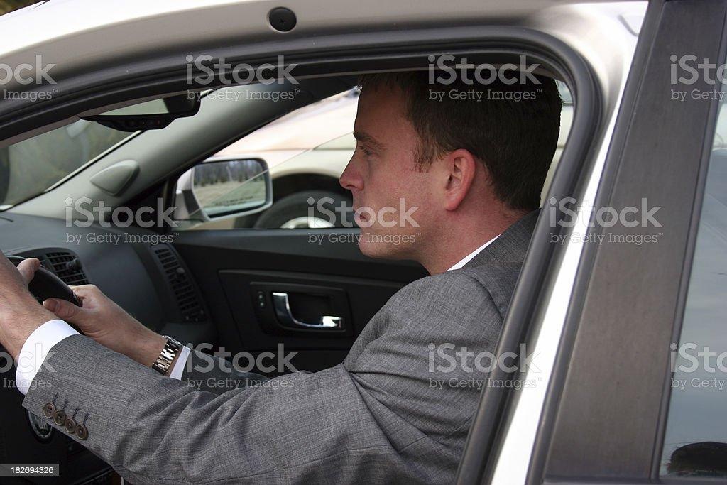 Angry Man Driving royalty-free stock photo