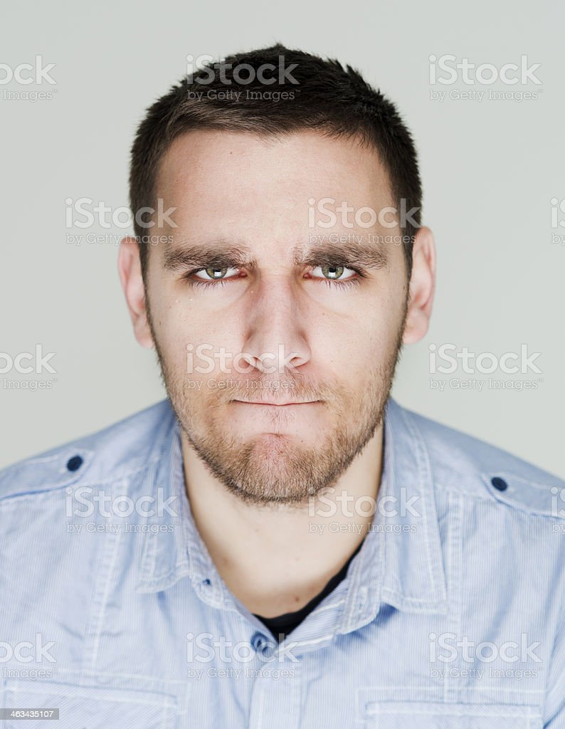 Angry man royalty-free stock photo