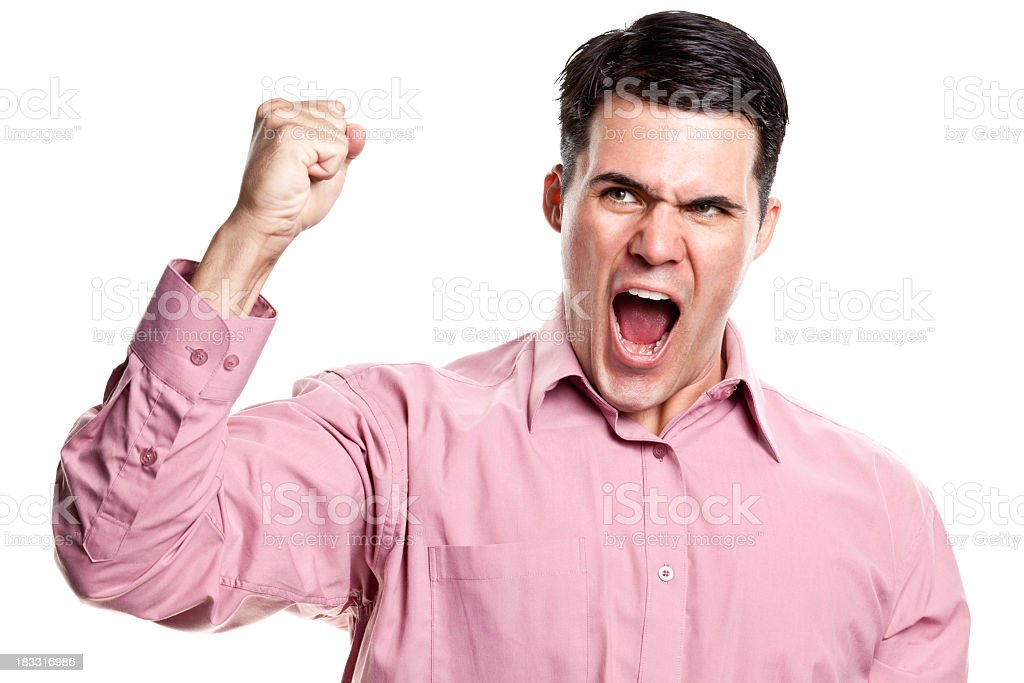 Angry Man Shaking Fist royalty-free stock photo