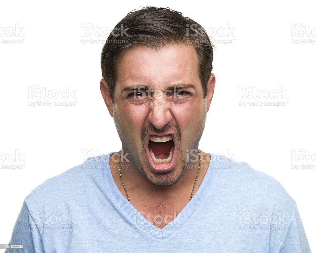 Angry Man Snarling royalty-free stock photo