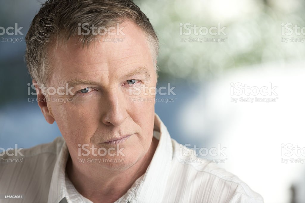 Angry mature man royalty-free stock photo