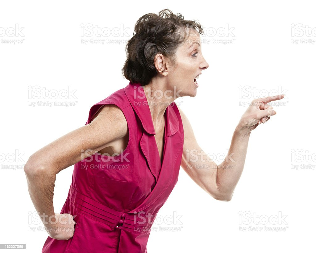 Angry Mature Woman royalty-free stock photo