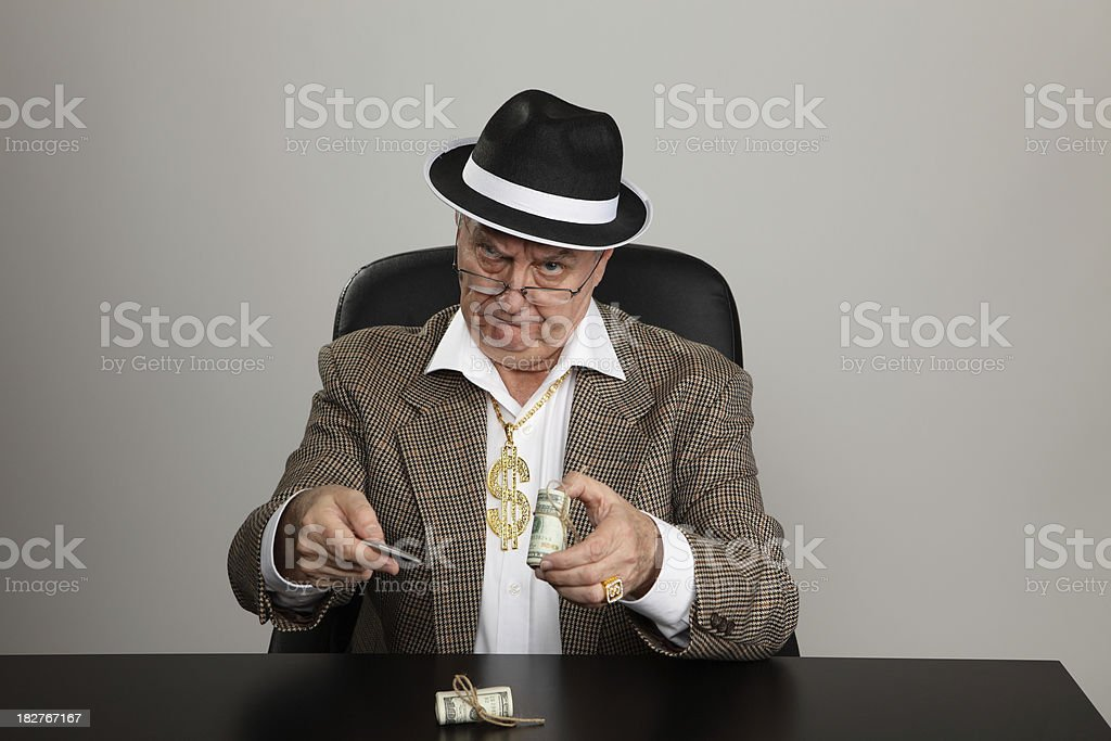 Angry Money Man stock photo