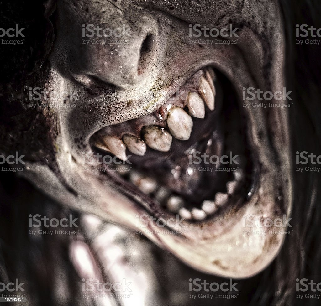Angry Monster stock photo