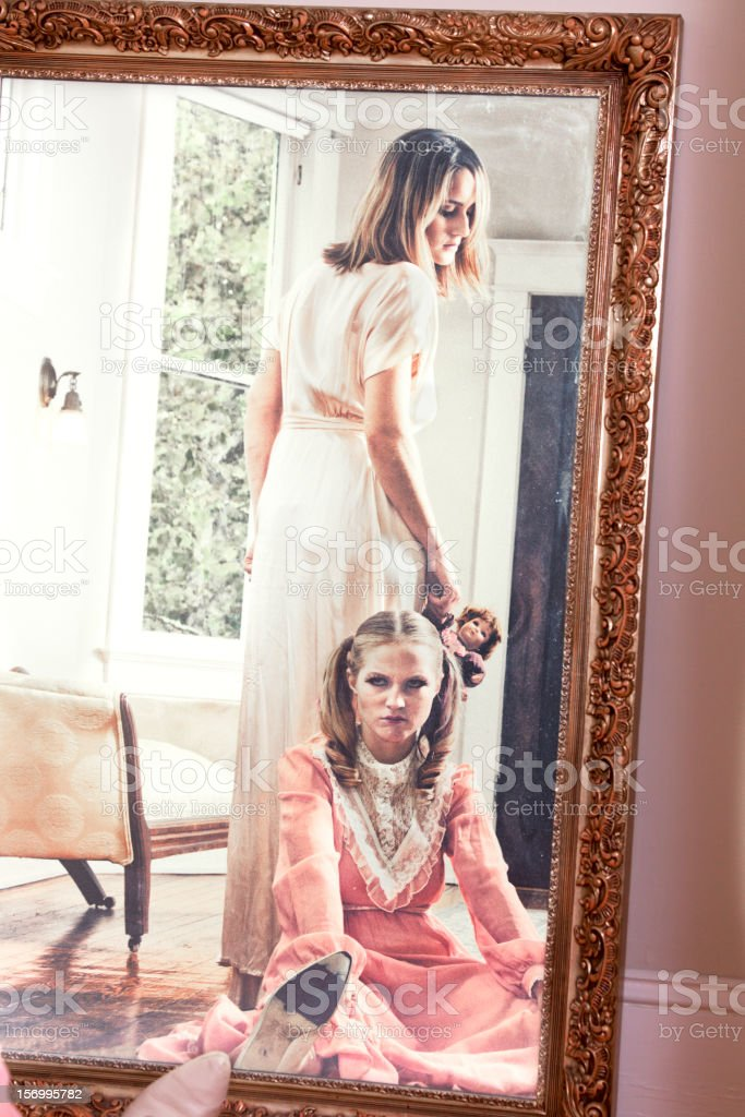 Angry Mother and Child stock photo