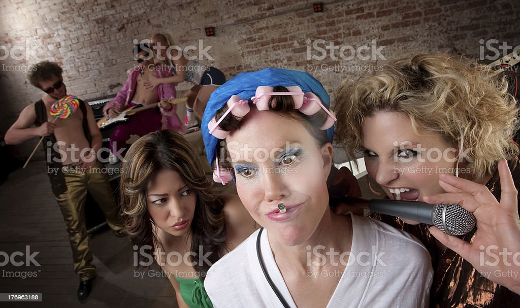 Angry neighbor royalty-free stock photo