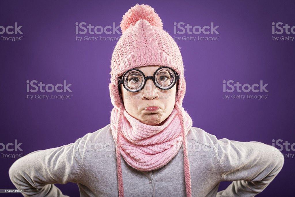 Angry nerd girl royalty-free stock photo
