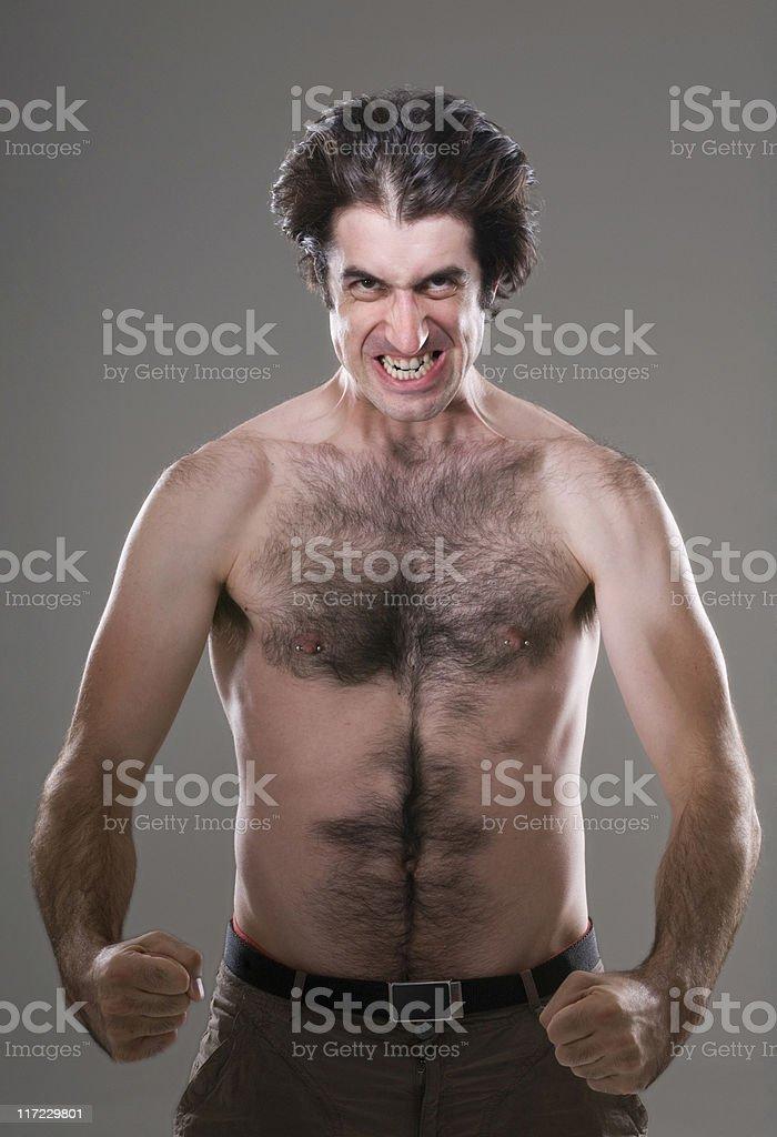 Angry Nerd stock photo