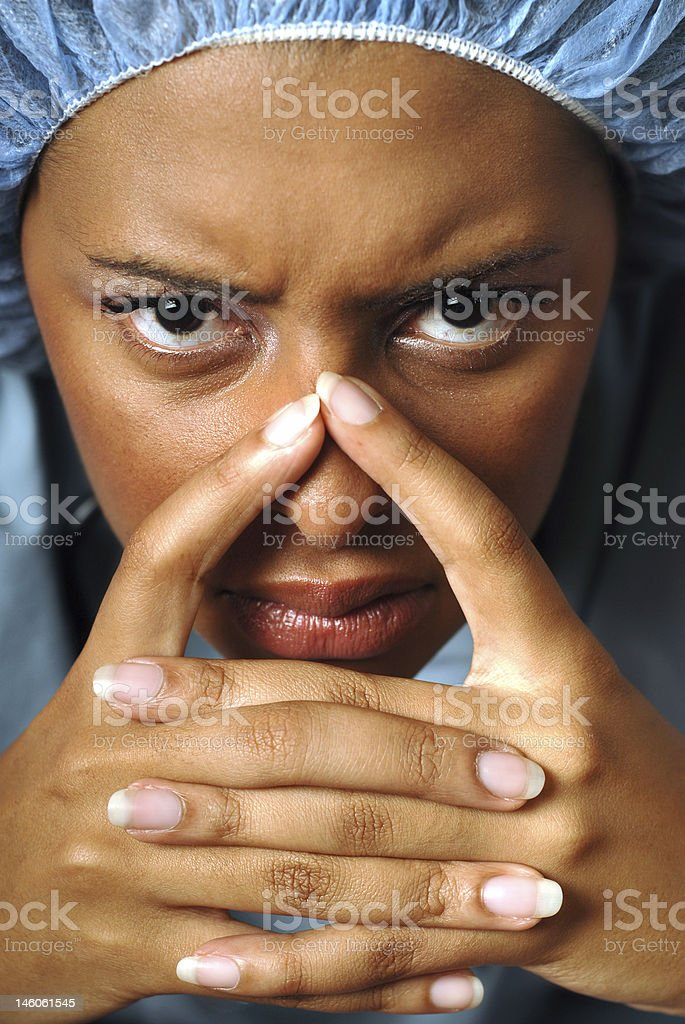 Angry nurse royalty-free stock photo