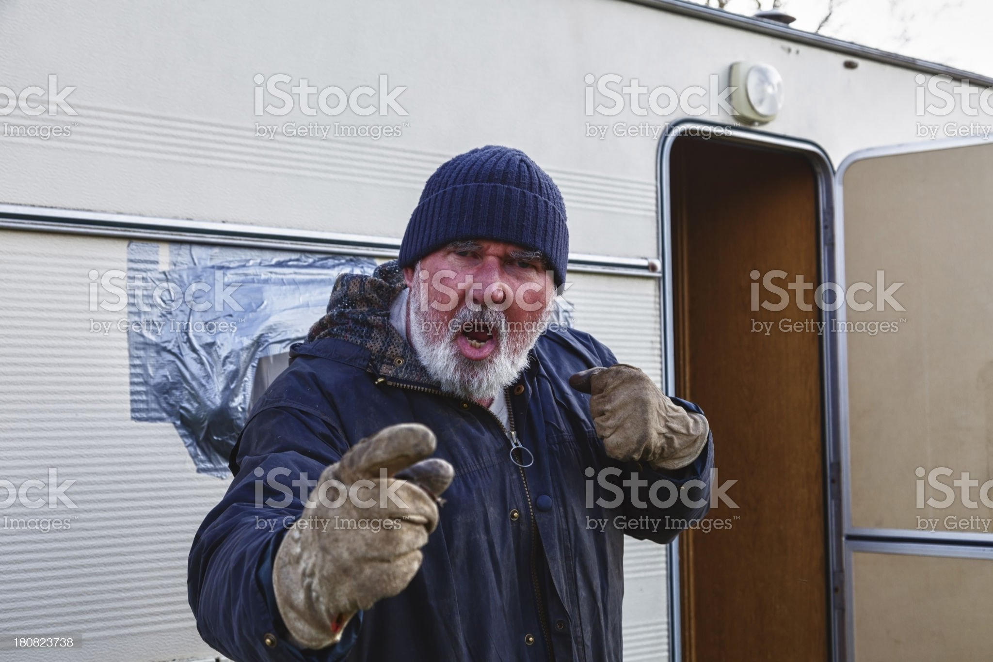 Angry Old Gypsy royalty-free stock photo