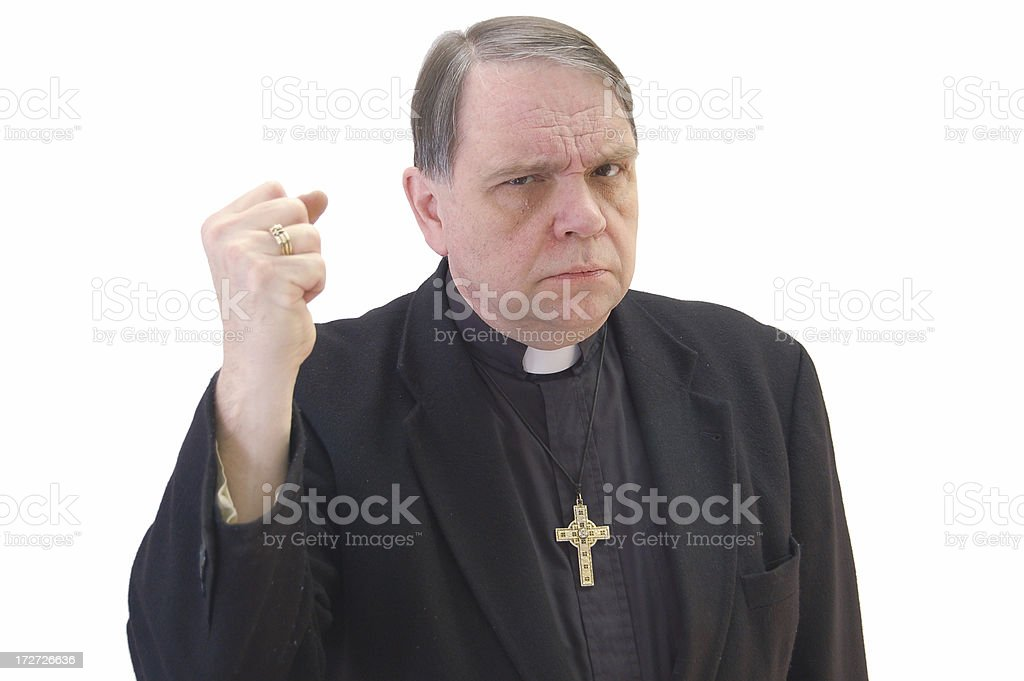 Angry Pastor royalty-free stock photo