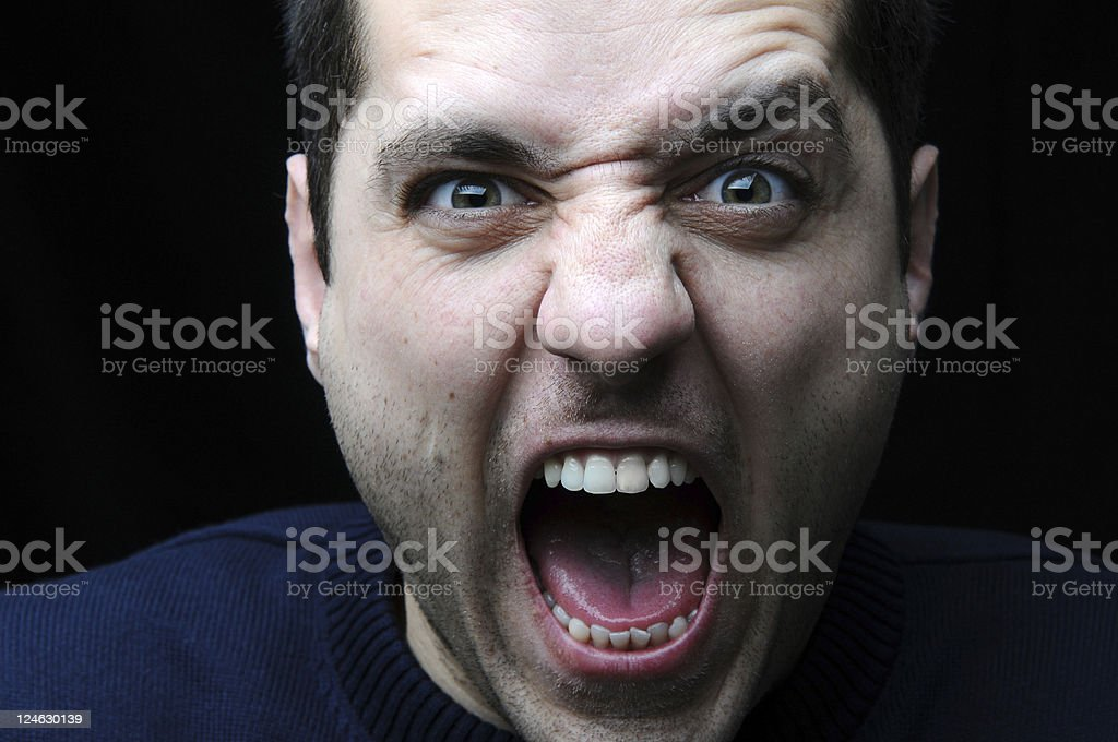 angry person royalty-free stock photo