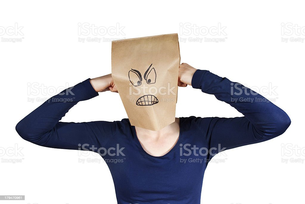 angry person stock photo
