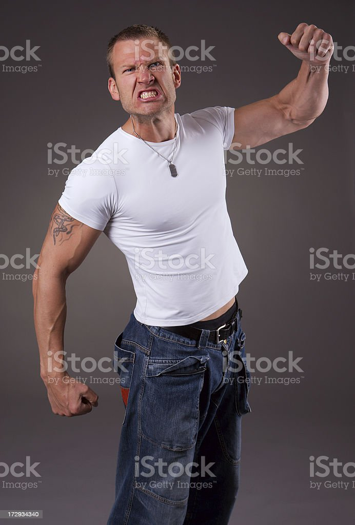 Angry royalty-free stock photo