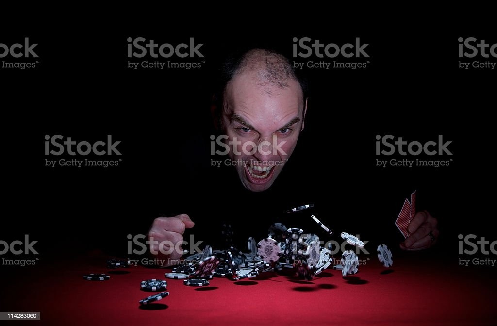 Angry Poker Player... royalty-free stock photo
