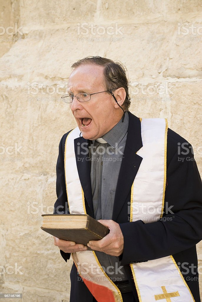 Angry Priest royalty-free stock photo