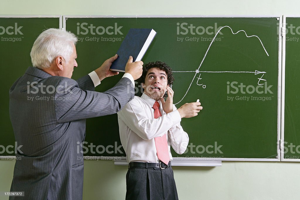 Angry professor royalty-free stock photo