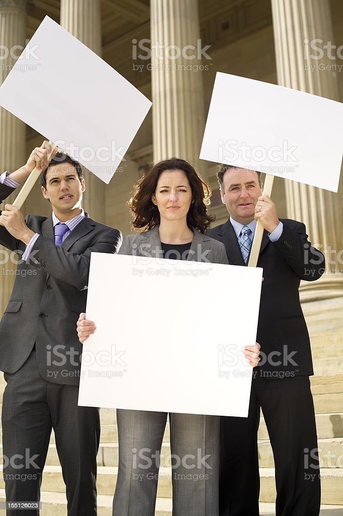 angry protesting office workers royalty-free stock photo