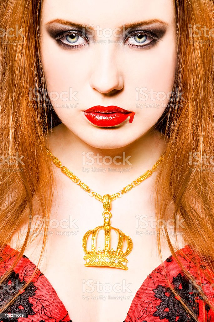 Angry redhead royalty-free stock photo
