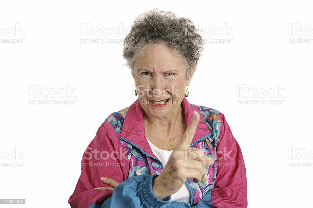 Angry Retiree royalty-free stock photo