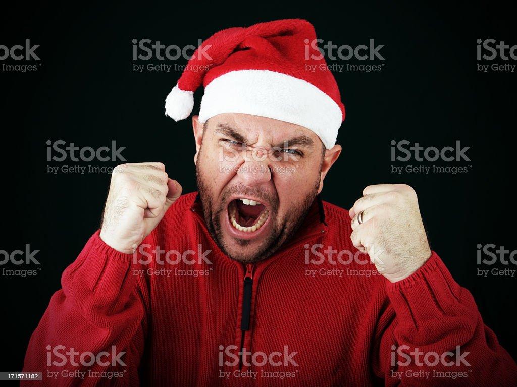 Angry Santa royalty-free stock photo