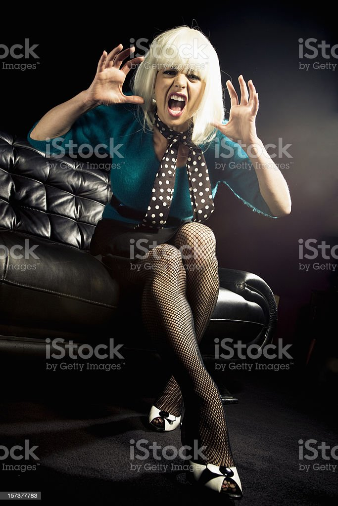 Angry Screaming Woman royalty-free stock photo