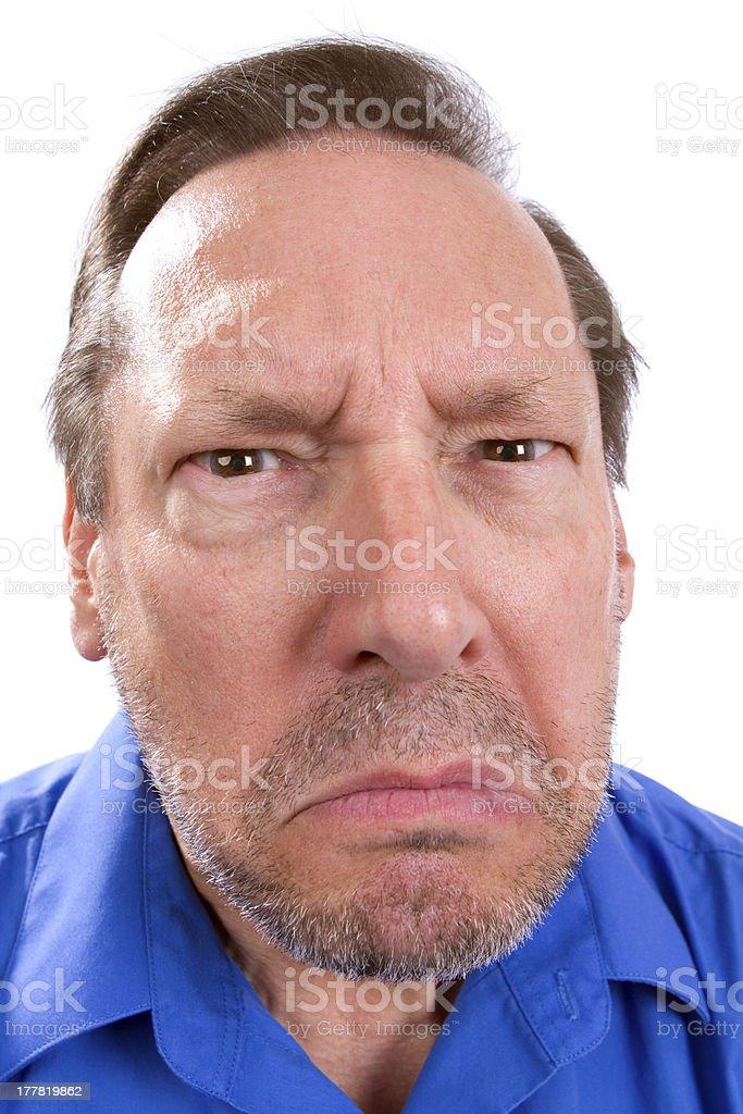 Angry Senior Adult stock photo