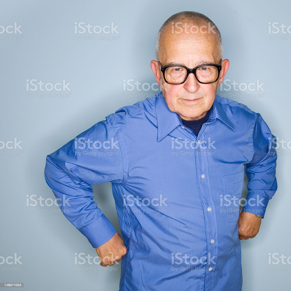 Angry Senior Man royalty-free stock photo