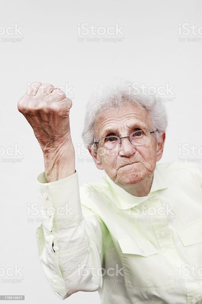 angry senior stock photo
