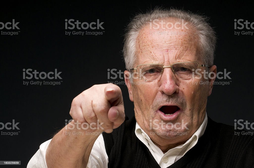 angry senior royalty-free stock photo