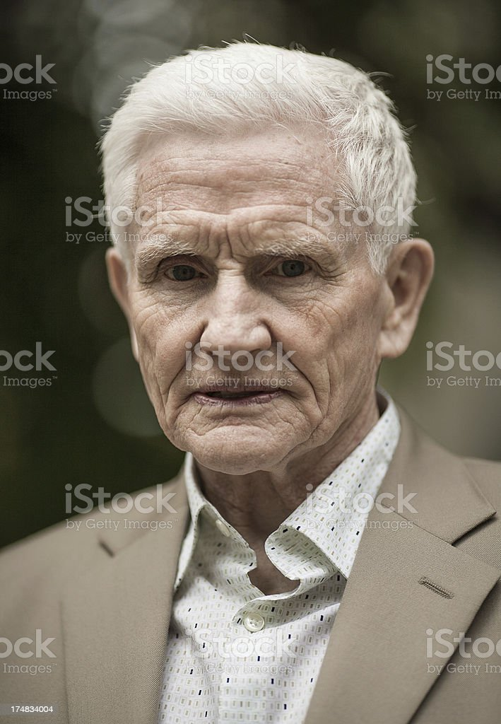 angry senior portrait royalty-free stock photo