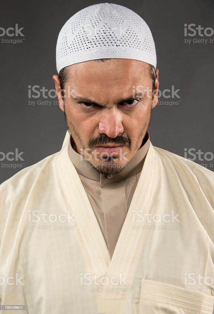 Angry Sheik stock photo