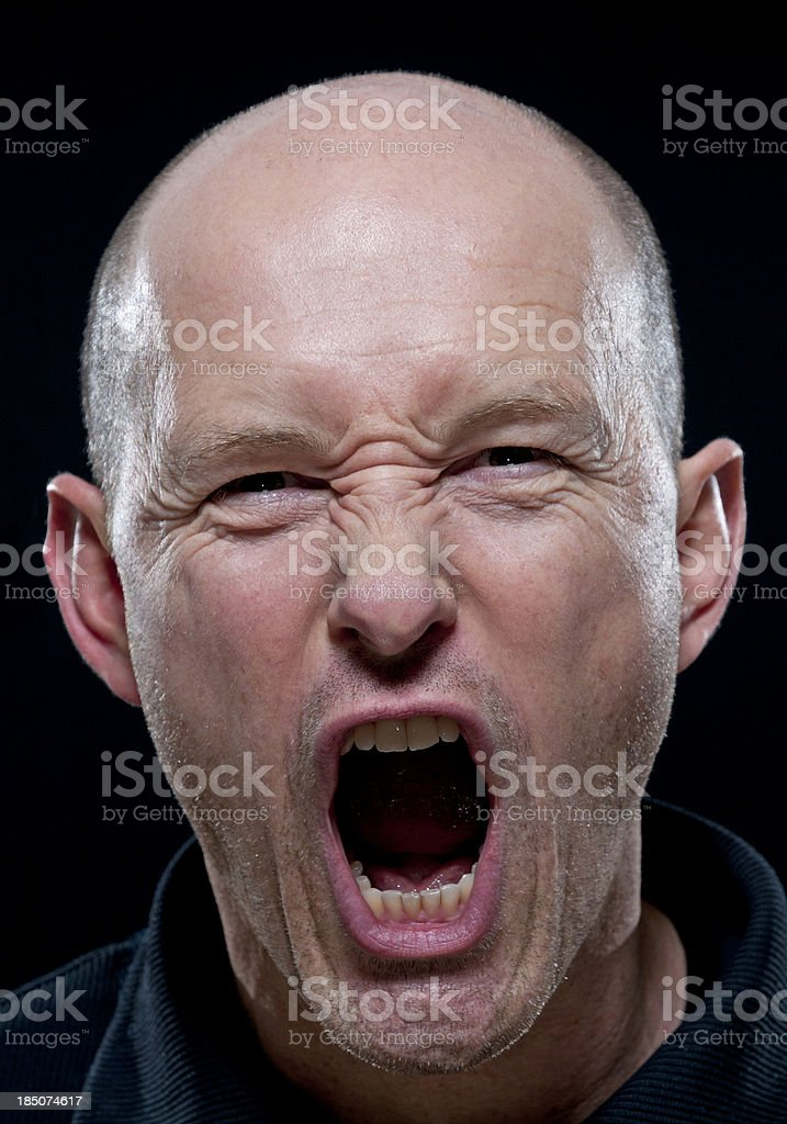 angry shouting man royalty-free stock photo