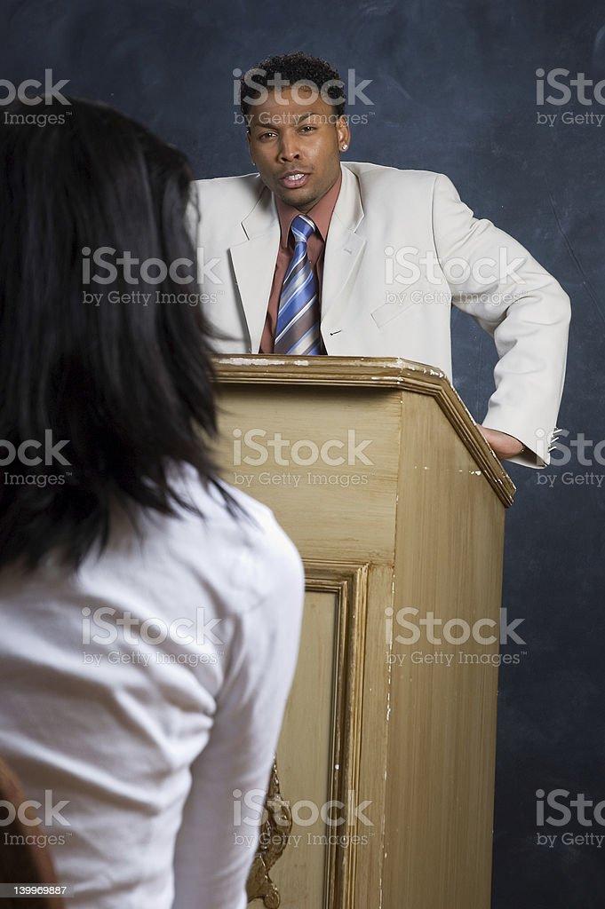 Angry Speech royalty-free stock photo