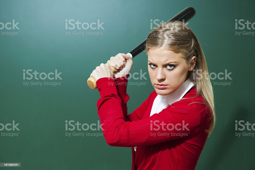Angry student royalty-free stock photo