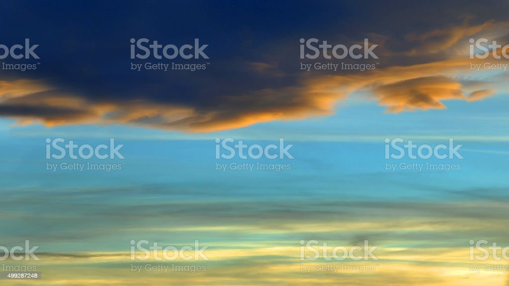 Angry Sunset Dark and Light stock photo