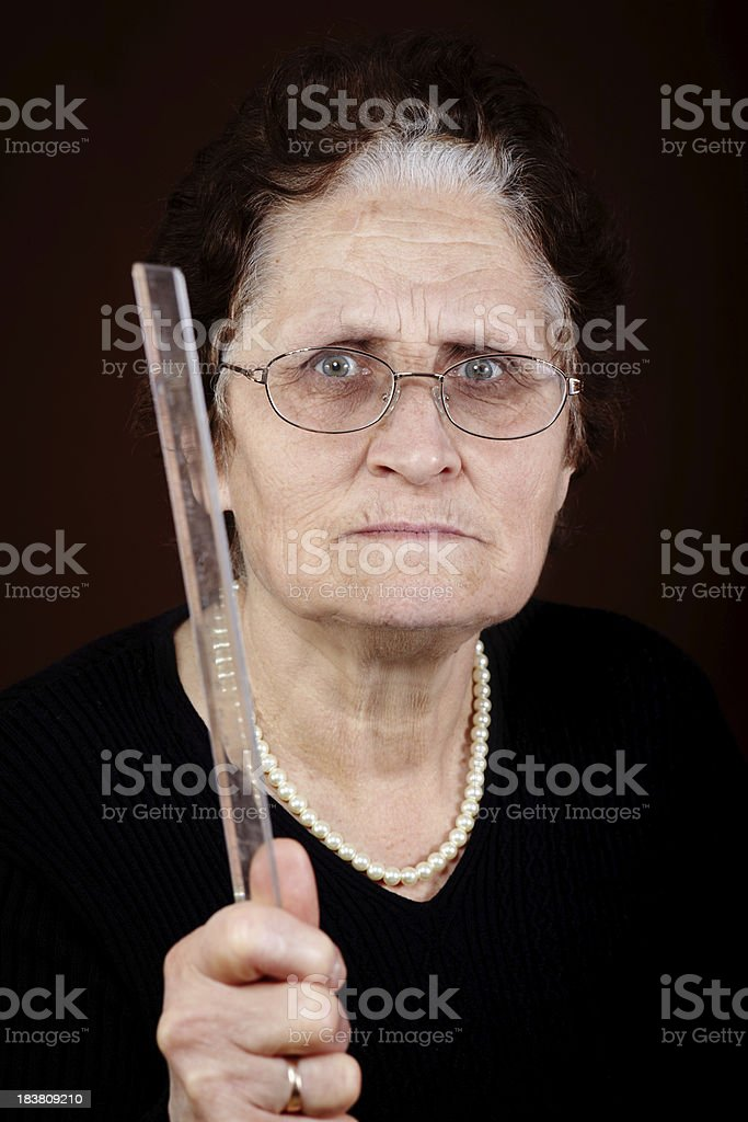 Angry teacher stock photo