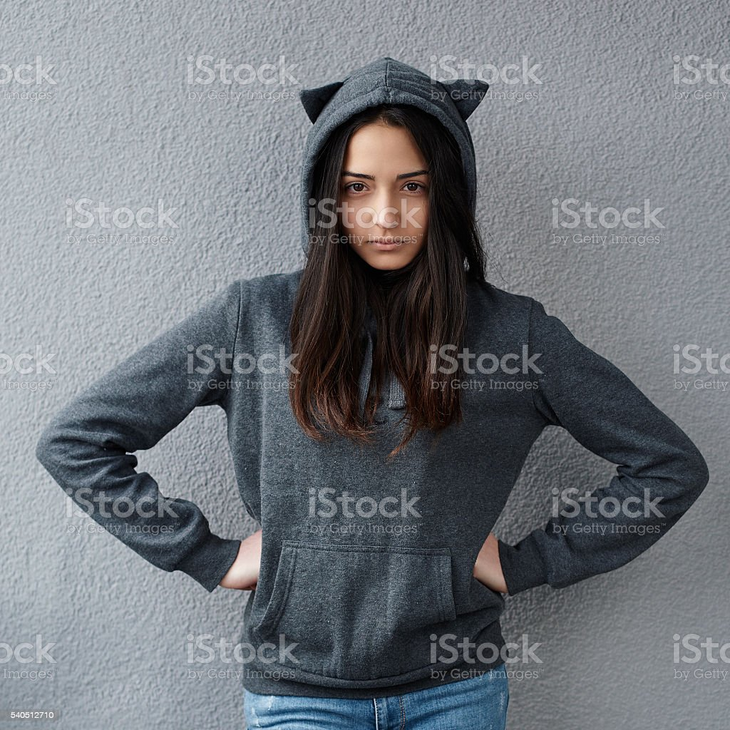 angry teenage girl suspected something  wrong stock photo