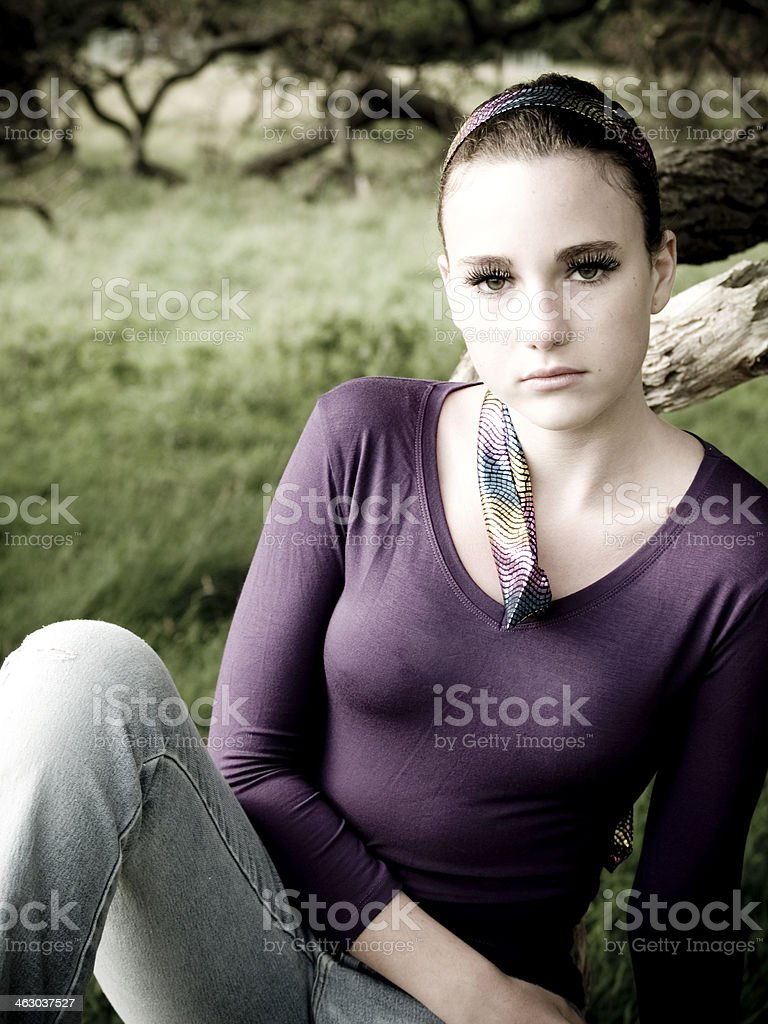Angry Teenager stock photo