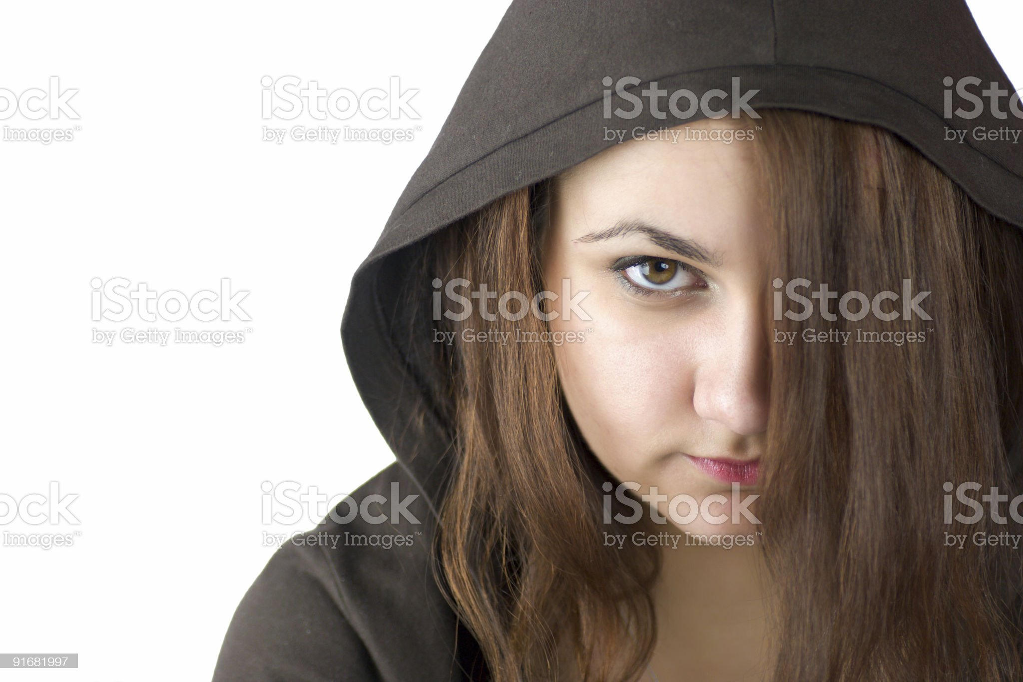 Angry Teenager royalty-free stock photo