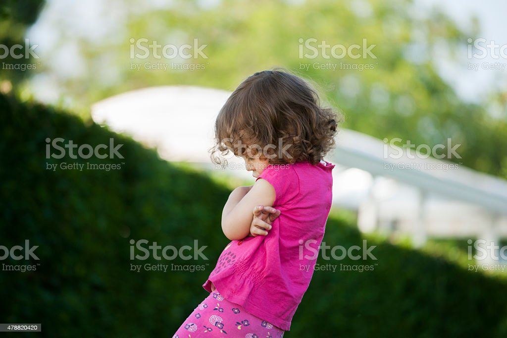 Angry toddler stock photo
