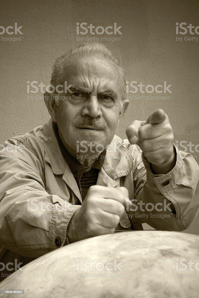 Angry Turkish man royalty-free stock photo