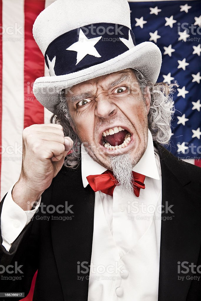 Angry Uncle Sam royalty-free stock photo
