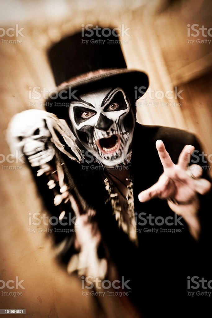 Angry Witch Doctor stock photo