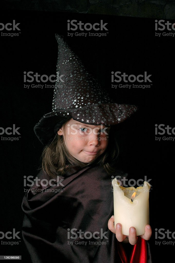 Angry witch royalty-free stock photo