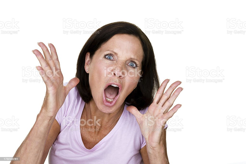 Angry woman royalty-free stock photo