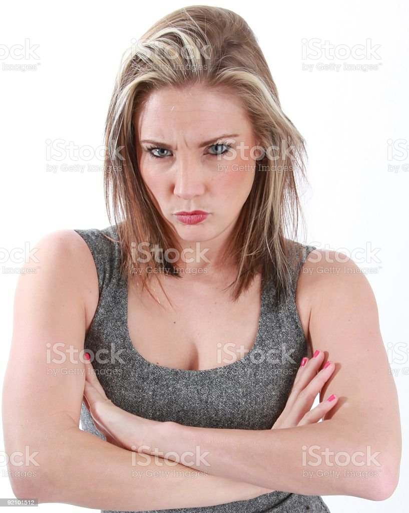 Mujer enojada foto de stock libre de derechos