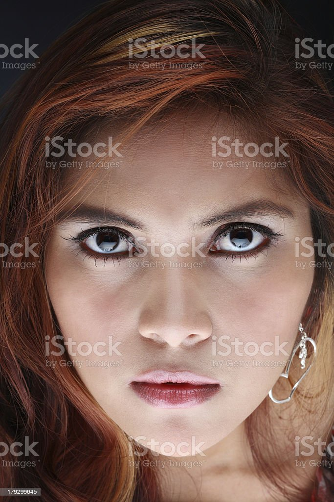 angry young beauty royalty-free stock photo